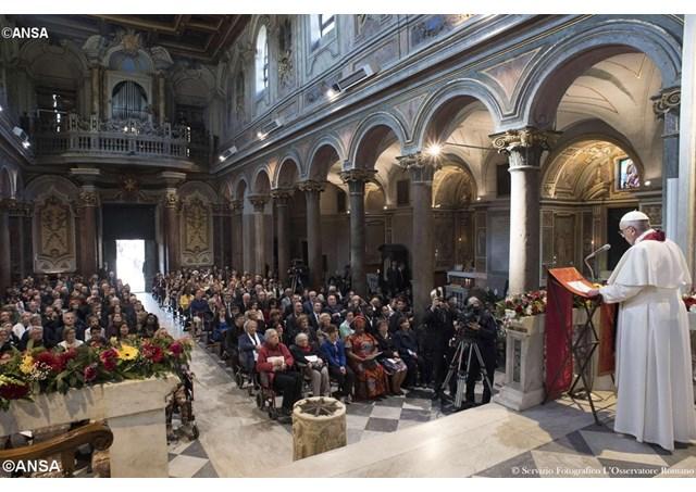 El Papa, en San Egidio